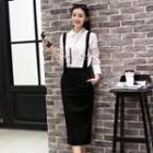 Midi Suspender Skirt