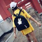 Rabbit Print Canvas Backpack