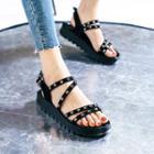 Strappy Platform Studded Sandals