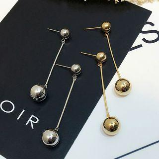 Ball Bar Drop Earrings