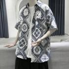 Short-sleeve Printed Loose Fit Shirt