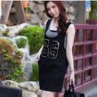 Sleeveless Printed T-shirt Dress