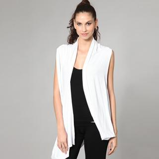 Open-front Long Vest White - One Size