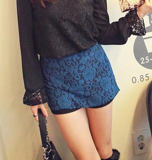 Inset Skirt Shorts