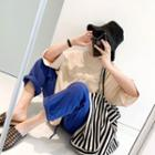 Round-neck Letter Print Loose-fit T-shirt