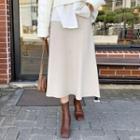 Knitted Long Flare Skirt