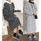 Set: Striped Hoodie + Midi Skirt