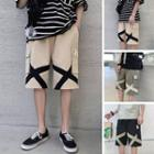 Cross Drawstring Pocketed Shorts