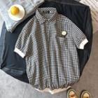 Checked Short-sleeve Polo Shirt