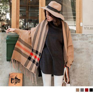 Convertible Striped Scarf