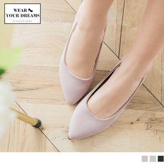 Pointy Toe Metal Accent Flats