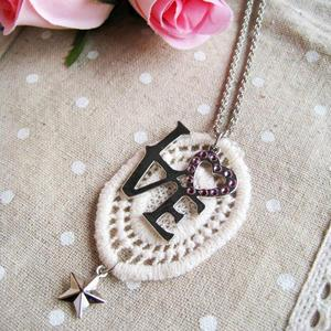 Silver Love Lace Necklace