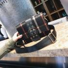 Buckled Plaid Crossbody Bag