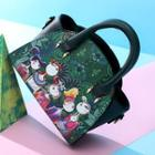 Print Crossbody Bag Green - One Size