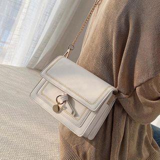 Mini Metal Accent Chain Crossbody Bag