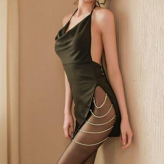 Halter Chained Night Dress / Set
