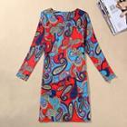 Paisley Long-sleeve Dress