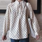 Dotted Blouse Almond - One Size