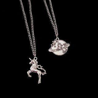 Alloy Unicorn Pendant Necklace