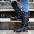 Buckled Shirred Short Boots