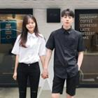 Couple Short-sleeve Oxford Shirt