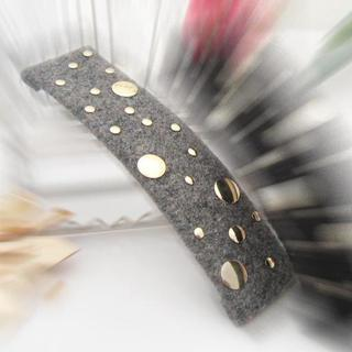 Golden Studded Hair Pin-gray