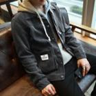 Ribbed Single-breasted Jacket