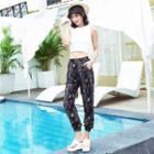 Patterned Chiffon Harem Pants