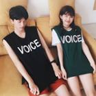 Couple Matching Lettering Tank Top