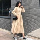 Plain Buttoned Long Trench Coat / Trench Coat
