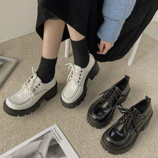 Block-heel Lace Up Oxford Shoes