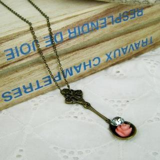Vintage Spoon & Flower Necklace
