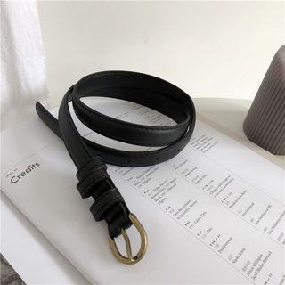 Faux Leather Belt Black - 125cm