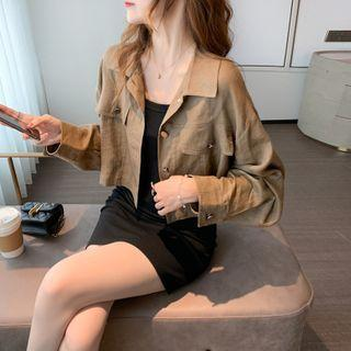 Cropped Button-up Jacket