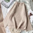 Keyhole Plain Dip-back Sweater