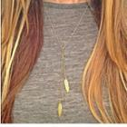 Leaf-accent Necklace