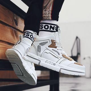 Color Block Platform Lace Up Sneakers