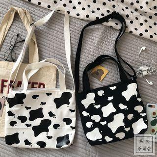 Canvas Dairy Patterened Shoulder Bag