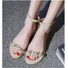 Ankle Strap Embellished Sandals