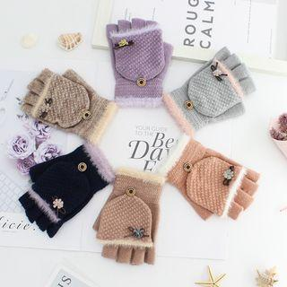 Flower Fingerless Gloves
