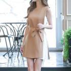 Bow Panel Chiffon Sleeveless Dress
