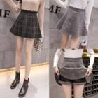 Frill Trim Plaid A-line Mini Skirt