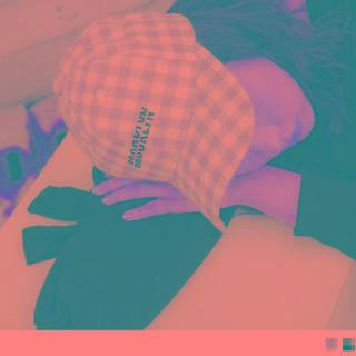 Letter Embroidered Check Baseball Cap