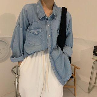 Long-sleeve Denim Shirt / Harem Pants