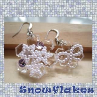 Big And Small Snowflake Earrings