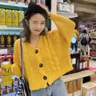 Cable Knit Crop Cardigan