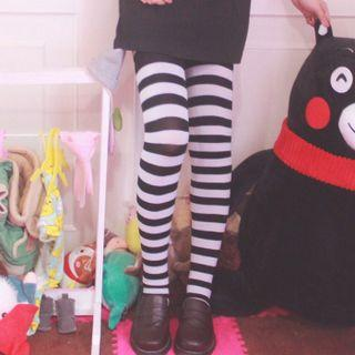 Striped Over-the-knee Stockings