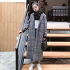 Houndstooth Slim-fit Coat