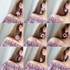 Purple Dangle Earring (various Designs)