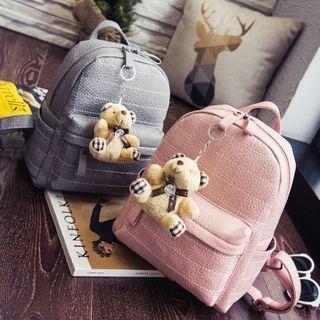 Checker Applique Backpack